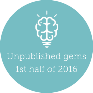 2016 q1 q2 unpublished gems